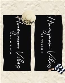 gifts: Personalised Honeymoon Beach Towel !