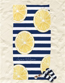 gifts: Personalised Lemon Beach Towel!
