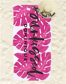 gifts: Personalised Sunkissed Beach Towel !