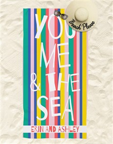 gifts: Personalised You And Me Beach Towel !