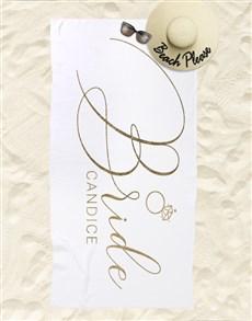 gifts: Personalised Beach Bride Beach Towel!
