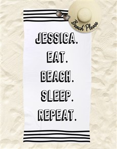 gifts: Personalised Repeat Routine Beach Towel!