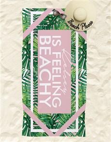 gifts: Personalised Feeling Beachy Beach Towel!