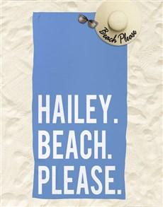 gifts: Personalised Beach Please Beach Towel !