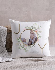 gifts: Personalised Joy Photo Scatter Cushion!