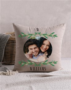 gifts: Personalised Wreath Photo Scatter Cushion!