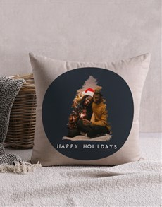 gifts: Personalised Christmas Tree Photo Scatter Cushion !