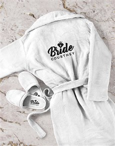 gifts: Personalised Bride Gown and Slipper Set!
