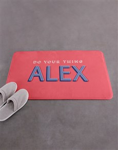 gifts: Personalised Do Your Thing Bath Mat!