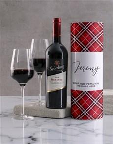 gifts: Personalised Classic Tartan Wine Tube!