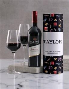 gifts: Personalised Retro Playful Wine Tube!