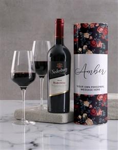 gifts: Personalised Vintage Rose Wine Tube!