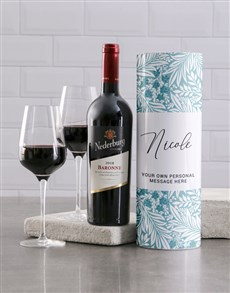gifts: Personalised Tropical Wine Tube!