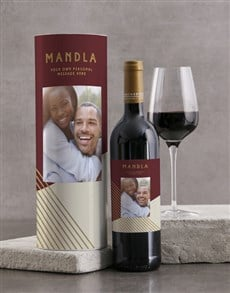 gifts: Personalised Red Geo Wine Tube!