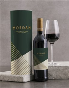 gifts: Personalised Modern Green Wine And Tube Gift!