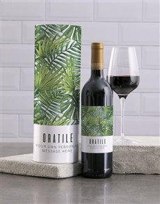 gifts: Personalised Tropical Wine And Tube Gift!