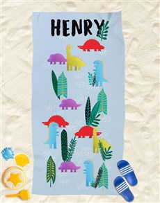gifts: Personalised Dino World Beach Towel!