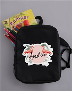 gifts: Personalised Flamingo Backpack!