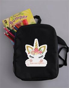 gifts: Personalised Unicorn Backpack!