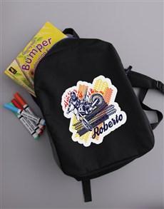gifts: Personalised Motor Backpack !