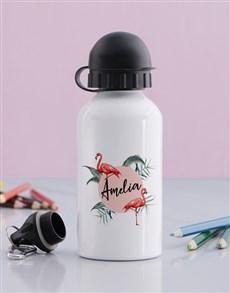 gifts: Personalised Flamingo Bottle!