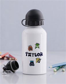 gifts: Personalised Little Monster Bottle!
