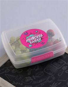 gifts: Personalised Princess Lunch Box !