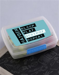 gifts: Personalised Destroy Lunch Box !