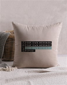 gifts: Personalised Hobby Scatter Cushion!