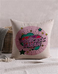 gifts: Personalised Pink Princess Scatter Cushion!