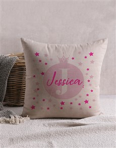 gifts: Personalised Pink Crown Scatter Cushion!