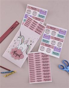 gifts: Personalised Rainbow Unicorn Labels!