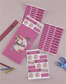 gifts: Personalised Flamingo Labels !