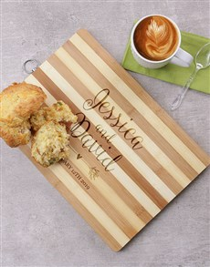 gifts: Personalised Couples Wooden Chopping Board!