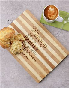 gifts: Personalised Bless Wooden Chopping Board !