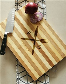 gifts: Personalised Cutlery Wooden Chopping Board!