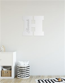gifts: Personalised Name And Initial Mirror!