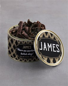 gifts: Personalised Awesome Bosses Day Biltong Tin!