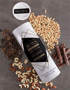 gifts: Personalised Boss Biltong and Nuts Tube!