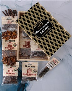 gifts: Personalised Bosses Day Biltong Crate!