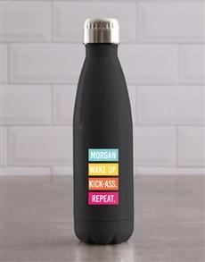 gifts: Personalised Kickass Aluminium Waterbottle!