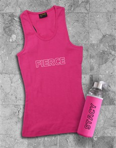 gifts: Personalised Fierce Waterbottle And Racerback!