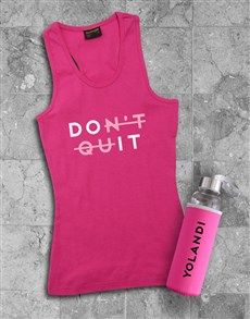 gifts: Personalised Do It Waterbottle And Racerback!