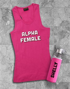 gifts: Personalised Alpha Waterbottle And Racerback!