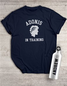 gifts: Personalised Adonis Waterbottle And T Shirt!