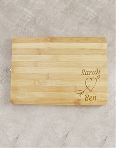 gifts: Personalised Cupid Heart Chopping Board!