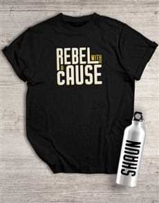 gifts: Personalised Rebel Waterbottle And T Shirt!