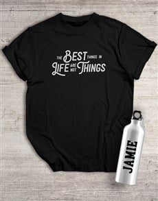 gifts: Personalised Best Things Waterbottle And T Shirt!