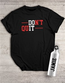 gifts: Personalised Do It Waterbottle And T Shirt!