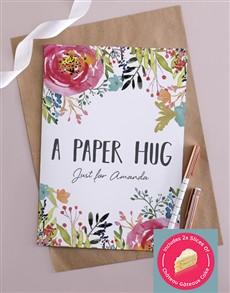 Personalised Paper Hug Card